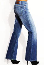 bootcut jeans with heeled shoes